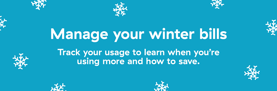 Manage your winter bills graphic